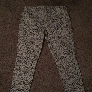 Black and white patterned Gap pants